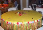 round grass skirt table cover