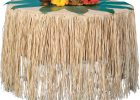 round grass skirt table cover for party