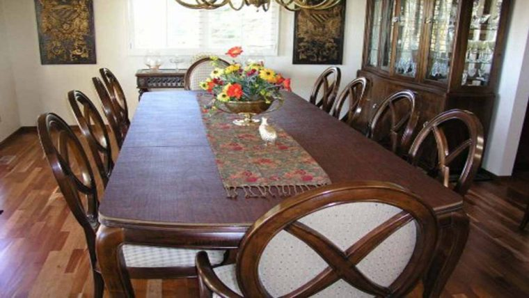 solid wood dining table cover pad
