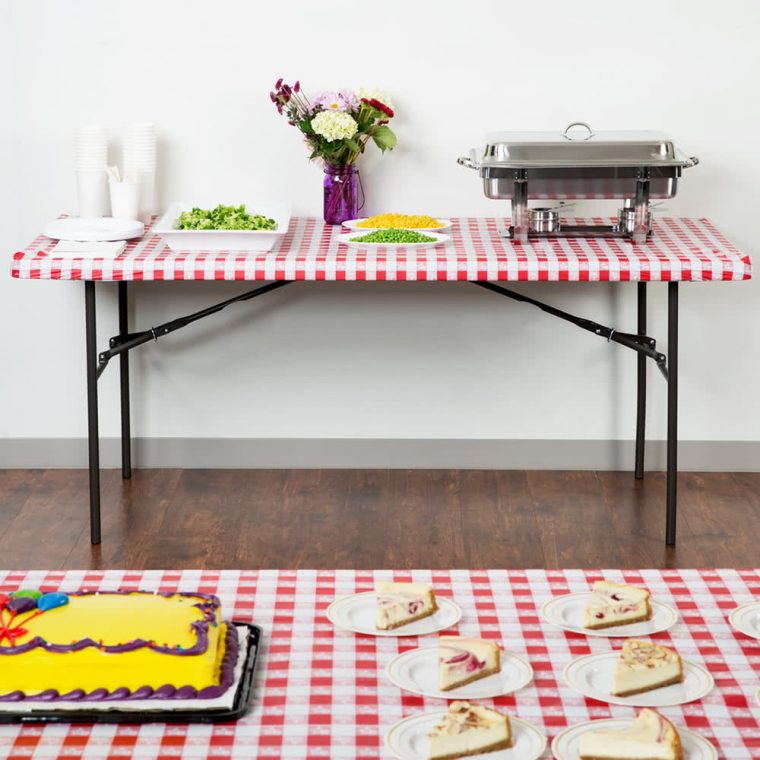 stay put table covers party disposable palstic