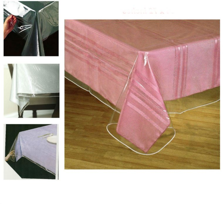 thick plastic table covers top