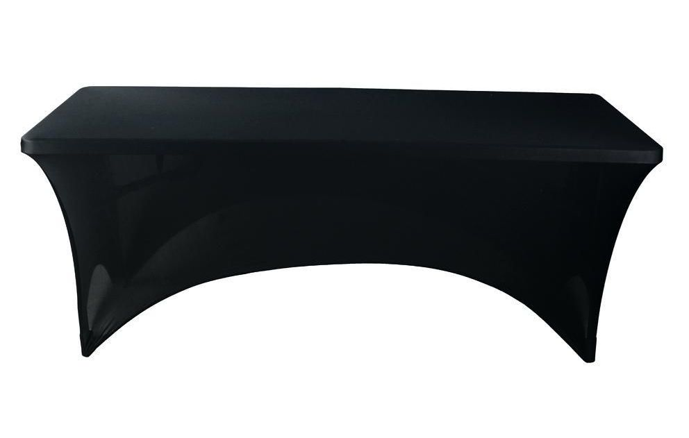 Awesome Black Fitted Rectangular Vinyl Table Covers
