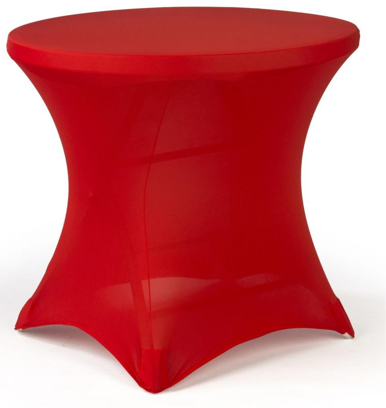 Awesome Spandex Covers For Tables Red Round for Sale