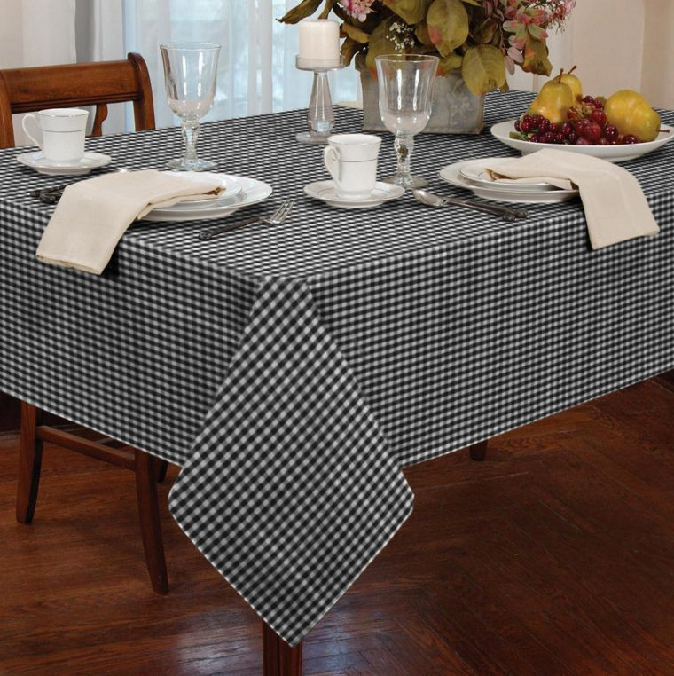 Black And White Checkered Table Cover Australia Tablecloth