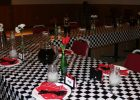Black And White Checkered Table Cover Disposable Tablecloth