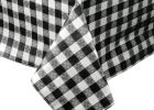 Black And White Checkered Table Cover Fabric Tablecloth