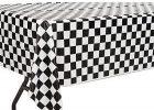 Black And White Checkered Table Cover Gingham Tablecloth