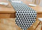 Black And White Checkered Table Cover Table Runners