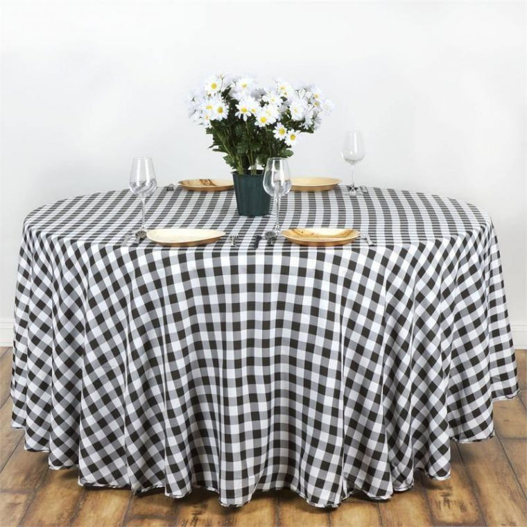 Black And White Checkered Table Cover Tablecloth Australia