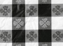 Black And White Checkered Table Cover Tablecloth Cotton