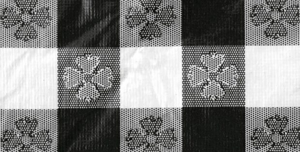 Black And White Checkered Table Cover