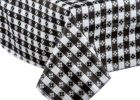 Black And White Checkered Table Cover Tablecloth Walmart