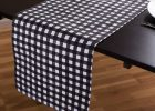 Black And White Checkered Table Cover Tablecloths Disposable