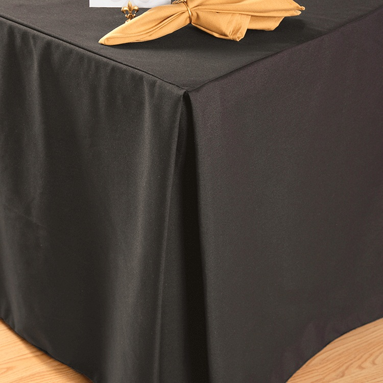 Black Fitted Rectangular Vinyl Table Covers