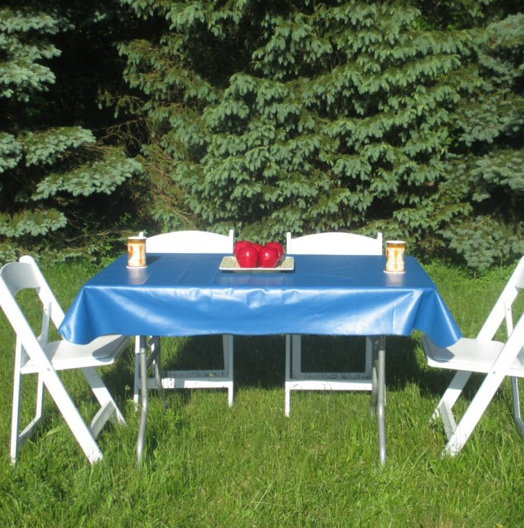 Blue Fitted Rectangular Vinyl Table Covers
