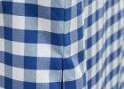 Blue Fitted Vinyl Picnic Table Covers Rectangular