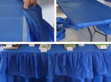 Blue Navy Plastic Table Covers