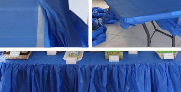 Navy Plastic Table Covers Heavy Duty