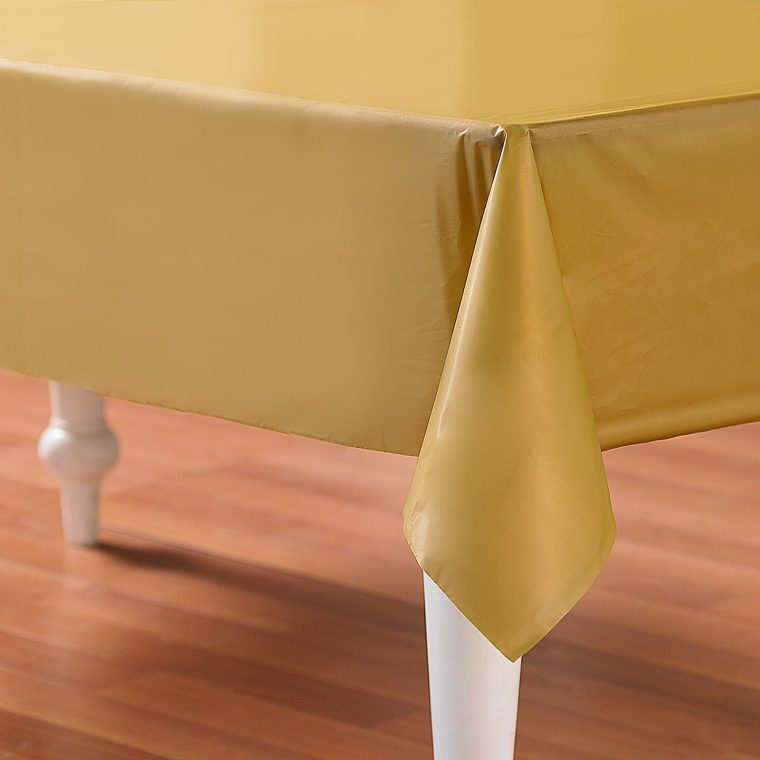 Brown Plastic Table Covers