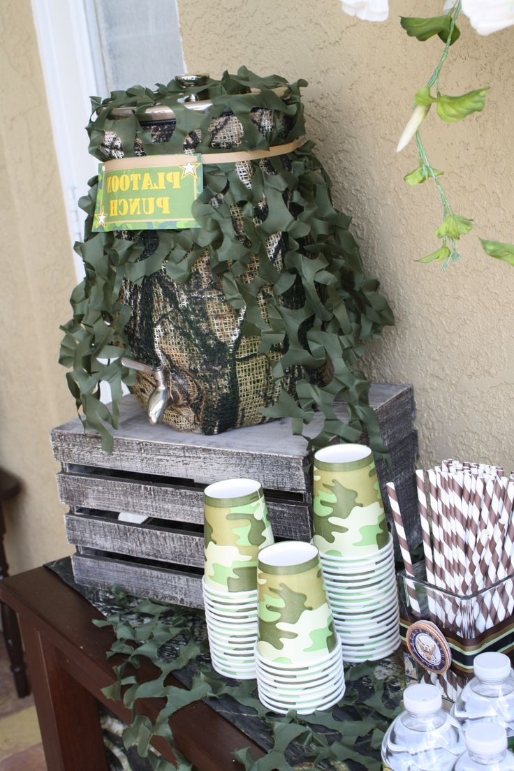 Camo Plastic Table Covers Ideas