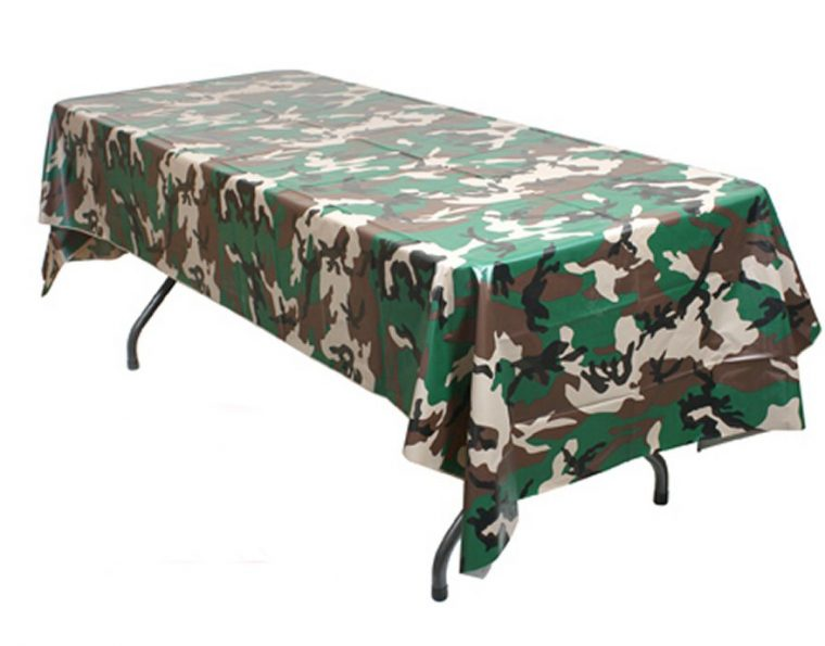 Camo Plastic Table Covers Toronto