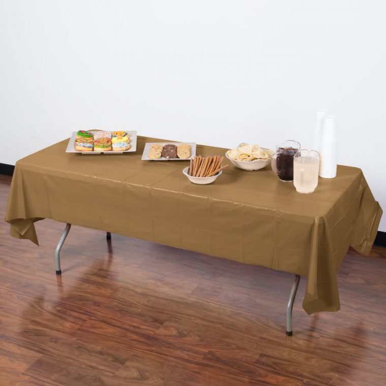Chocolate Brown Plastic Table Covers Plastic