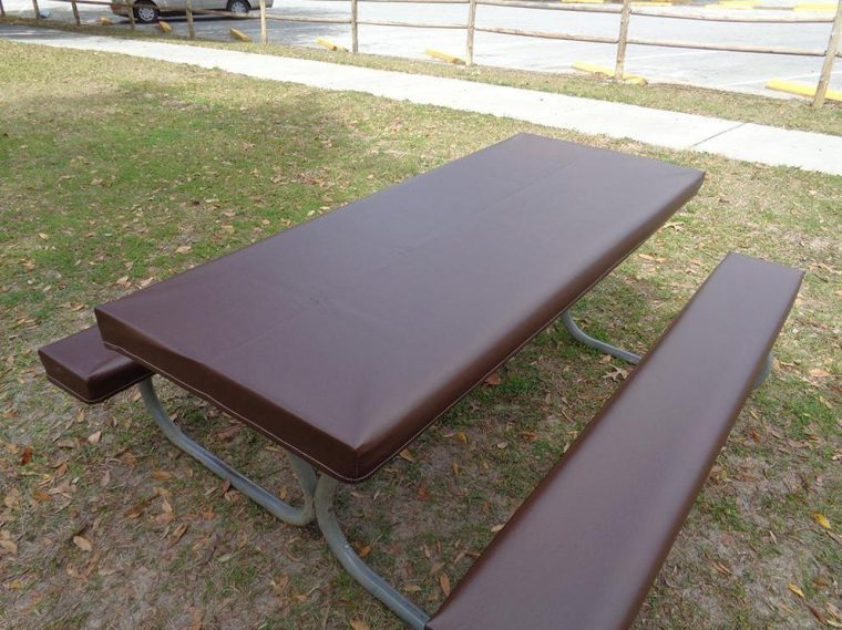 Dark Brown Fitted Vinyl Picnic Table Covers