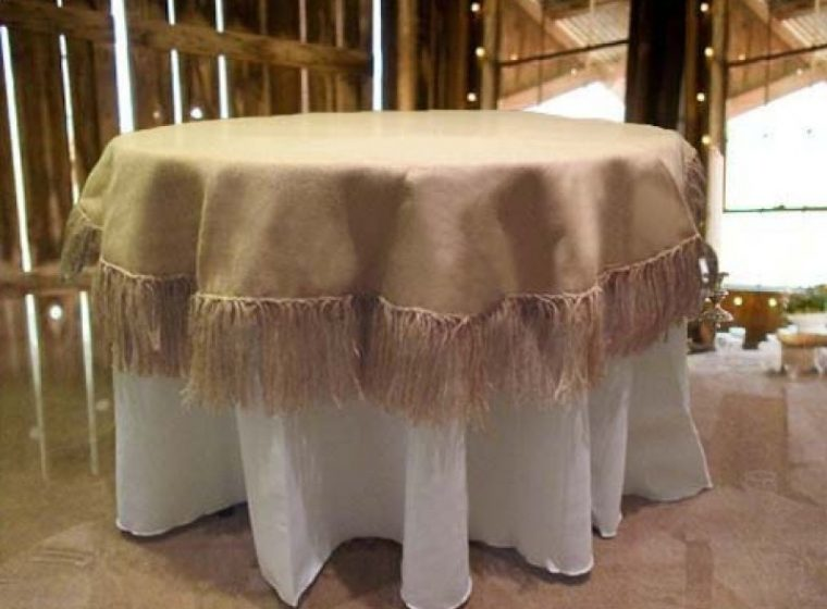 Elasticized Table Covers Round Cotton