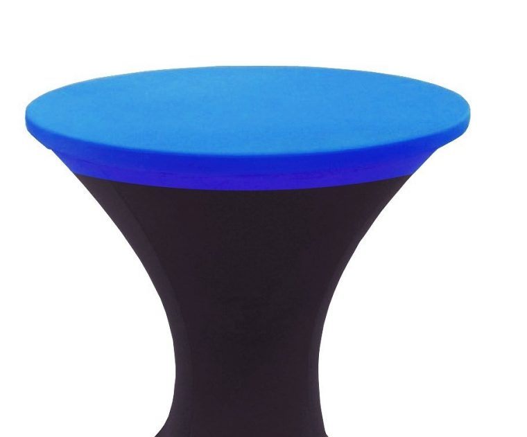 Elasticized Table Covers Round Vinyl Spandex