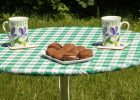 Elasticized Table Covers Round Vinyl for Outdoors