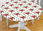 Elasticized Table Covers Round White Vinyl