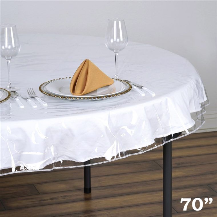 Fitted Clear Vinyl Table Covers