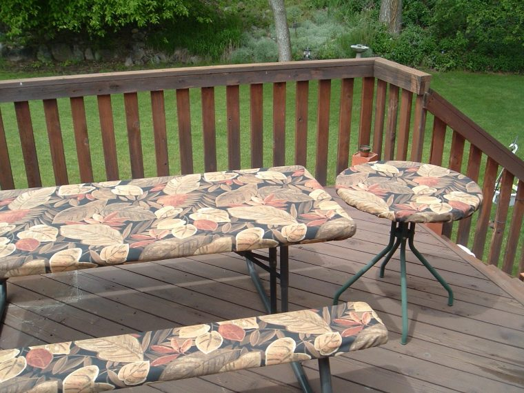 Fitted Rectangular Vinyl Table Covers Picnic Table
