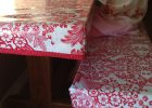 Fitted Rectangular Vinyl Table Covers for Dining Table with Bench