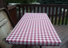 Fitted Rectangular Vinyl Table Covers for Outdoor
