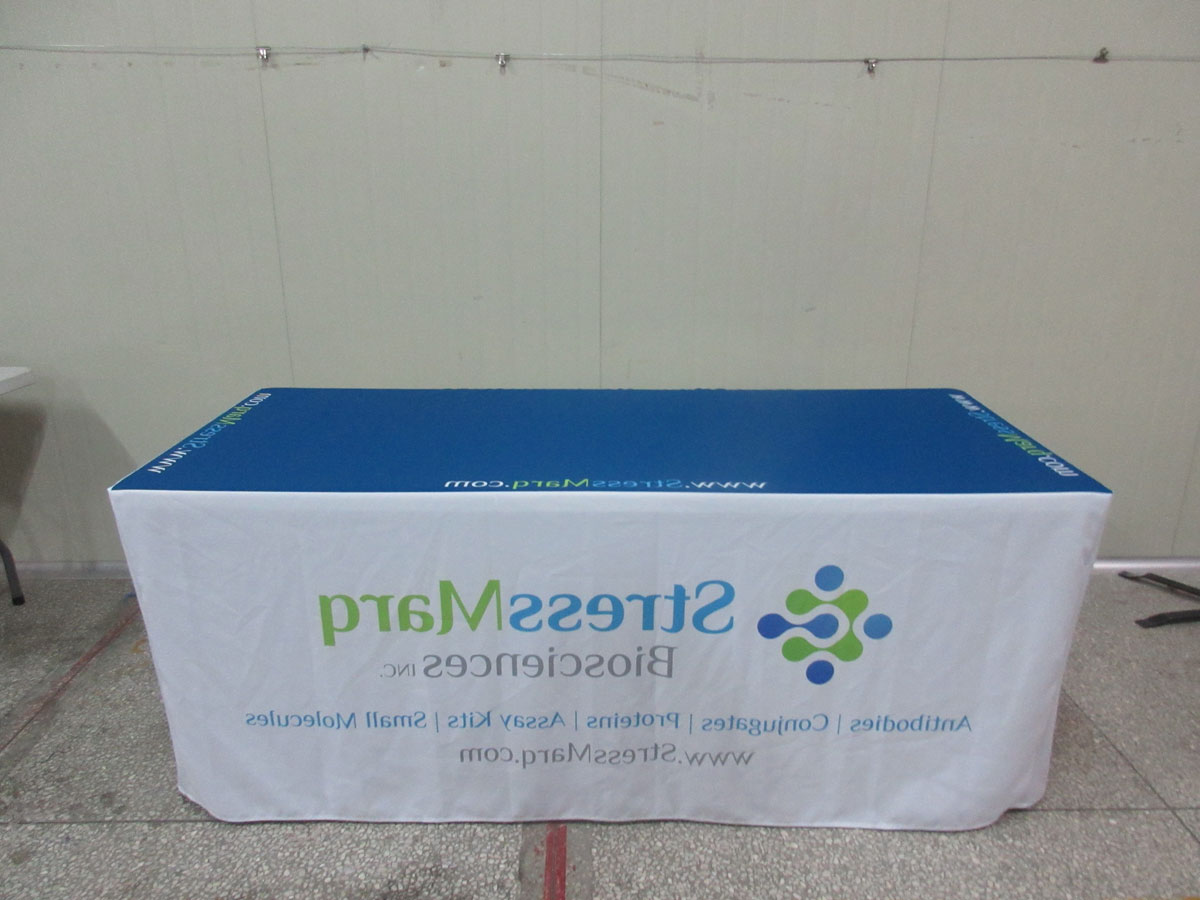 Fitted Rectangular Vinyl Table Covers for Tradeshow Table