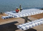 Fitted Vinyl Picnic Table Covers wit Bench