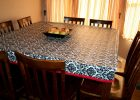 Fitted Vinyl Table Covers Rectangle Design