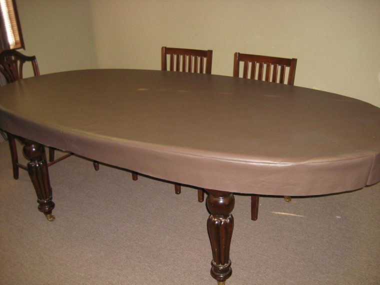 Fitted Vinyl Table Covers Rectangle Smooth Design