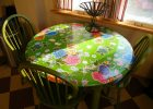 Fitted Vinyl Table Covers Round for Round Dining Table