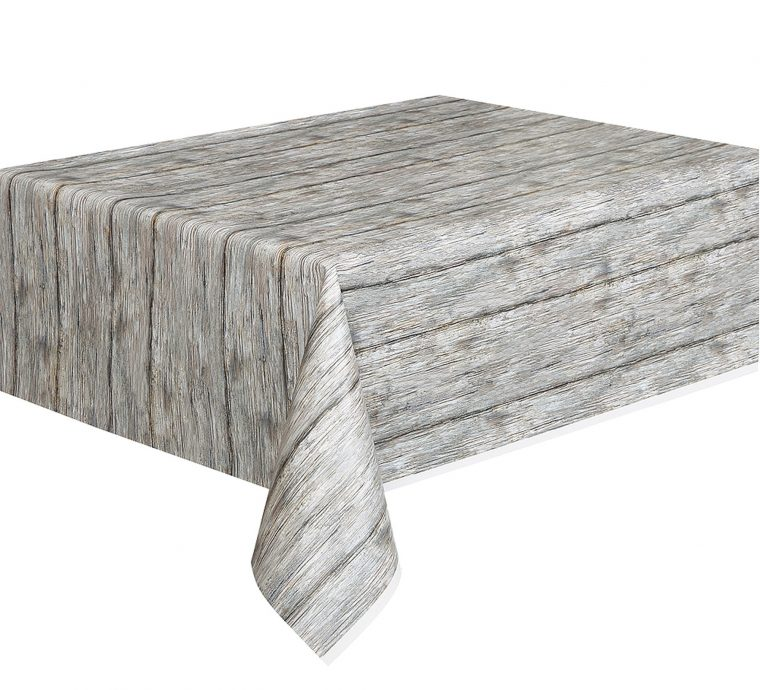 Gray Plastic Table Covers