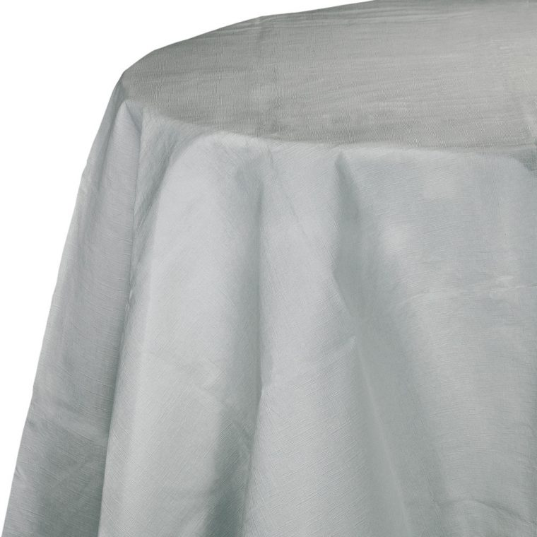 Gray Plastic Table Covers Design