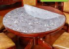 Gray Plastic Table Covers for Round Wood Table