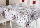 Gray Plastic Table Covers for White Dining Table