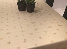 Light Chocolate Brown Plastic Table Covers
