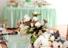 Mint Green Plastic Table Cover Linen Hire Wedding