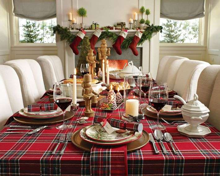 Oval Christmas Tablecloths-Checked Tablecloth-irish linen double damask tablecloths