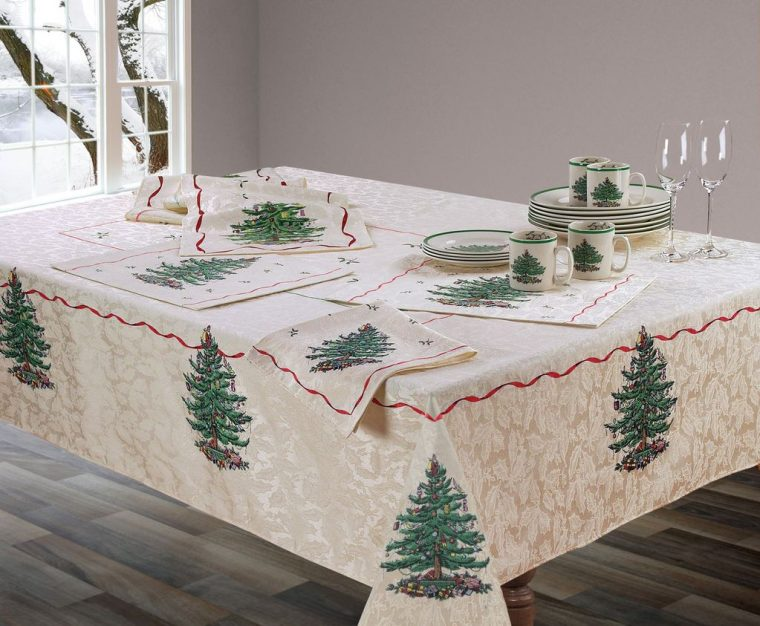 Oval Christmas Tablecloths-christmas Tree Printed Tablecloth-christmas tablecloth walmart