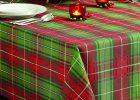 Oval Christmas Tablecloths rectangular christmas tablecloth Tartan Plaid Christmas Tablecloth