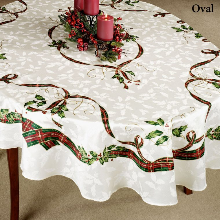 Oval Christmas Tablecloths-white oval linen tablecloth-christmas vinyl tablecloths